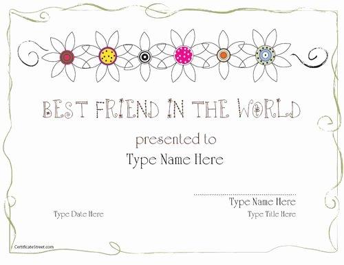 Best Friend Award Certificate Unique 14 Best Appreciation Ideas Images On Pinterest
