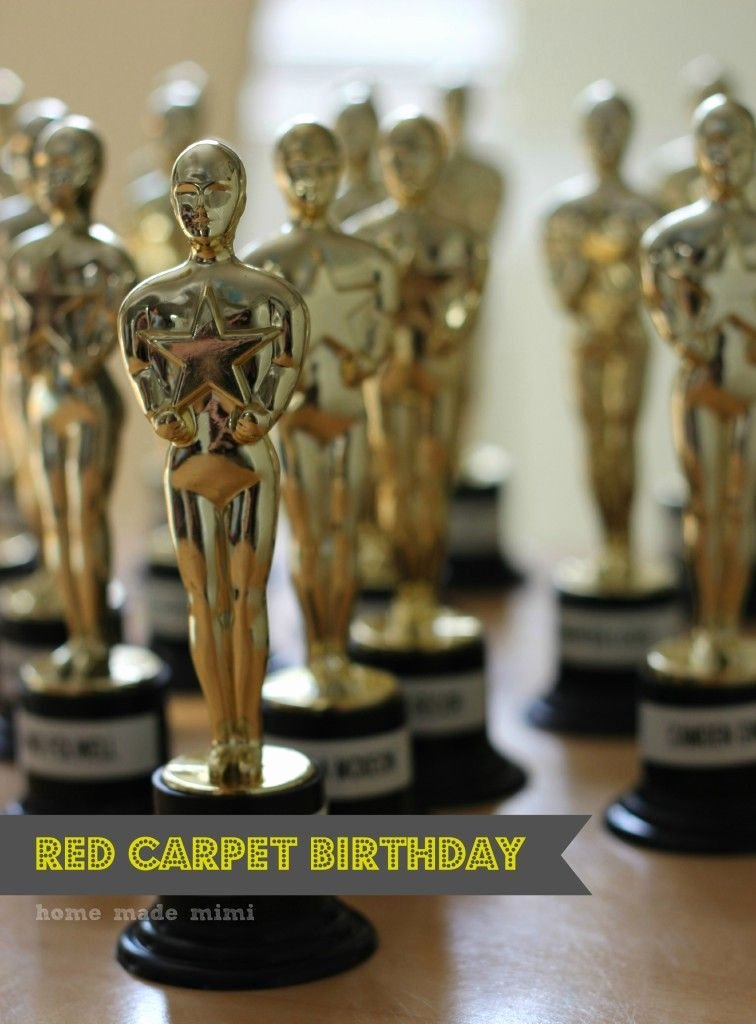 Best Friend Award Trophy Luxury Red Carpet Birthday Best Friend Awards Oscar Party Kids