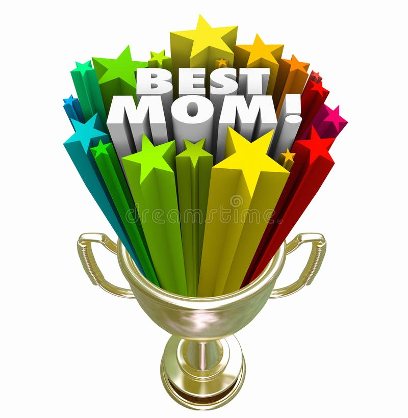 Best Friend Award Trophy New Best Mom Prize Trophy Award Worlds Greatest Mother Stock