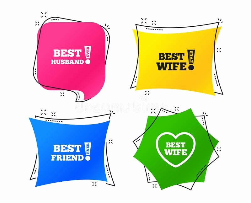 Best Friend Ever Award Inspirational Best Friend Ever Sign Icon Award Symbol Stock Vector