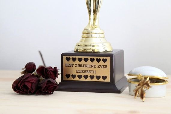 Best Girlfriend Ever Trophy Elegant Best Girlfriend Ever Trophy Custom Trophy Best
