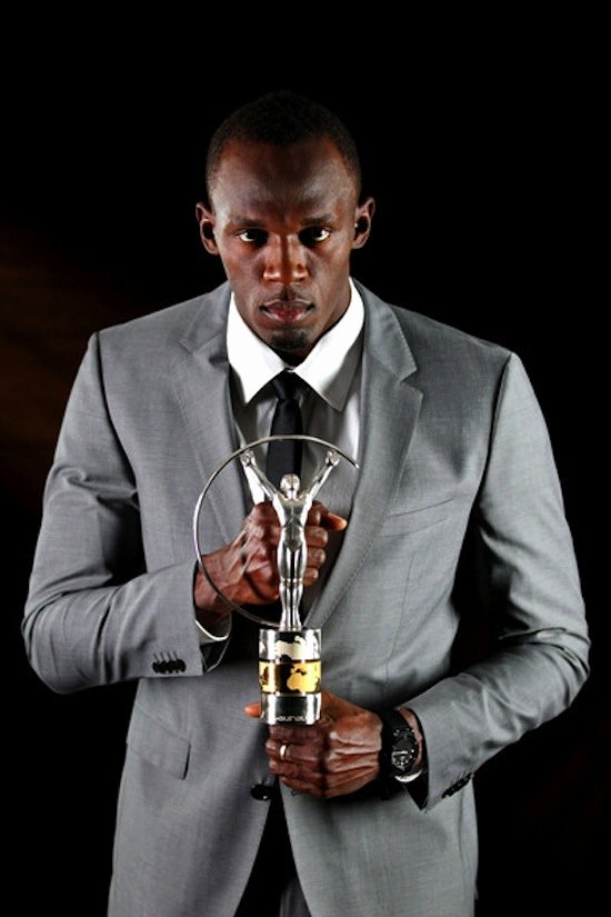 Best Girlfriend Of the Year Award Luxury Usain Bolt Name Laureus Sports Man the Year [photo