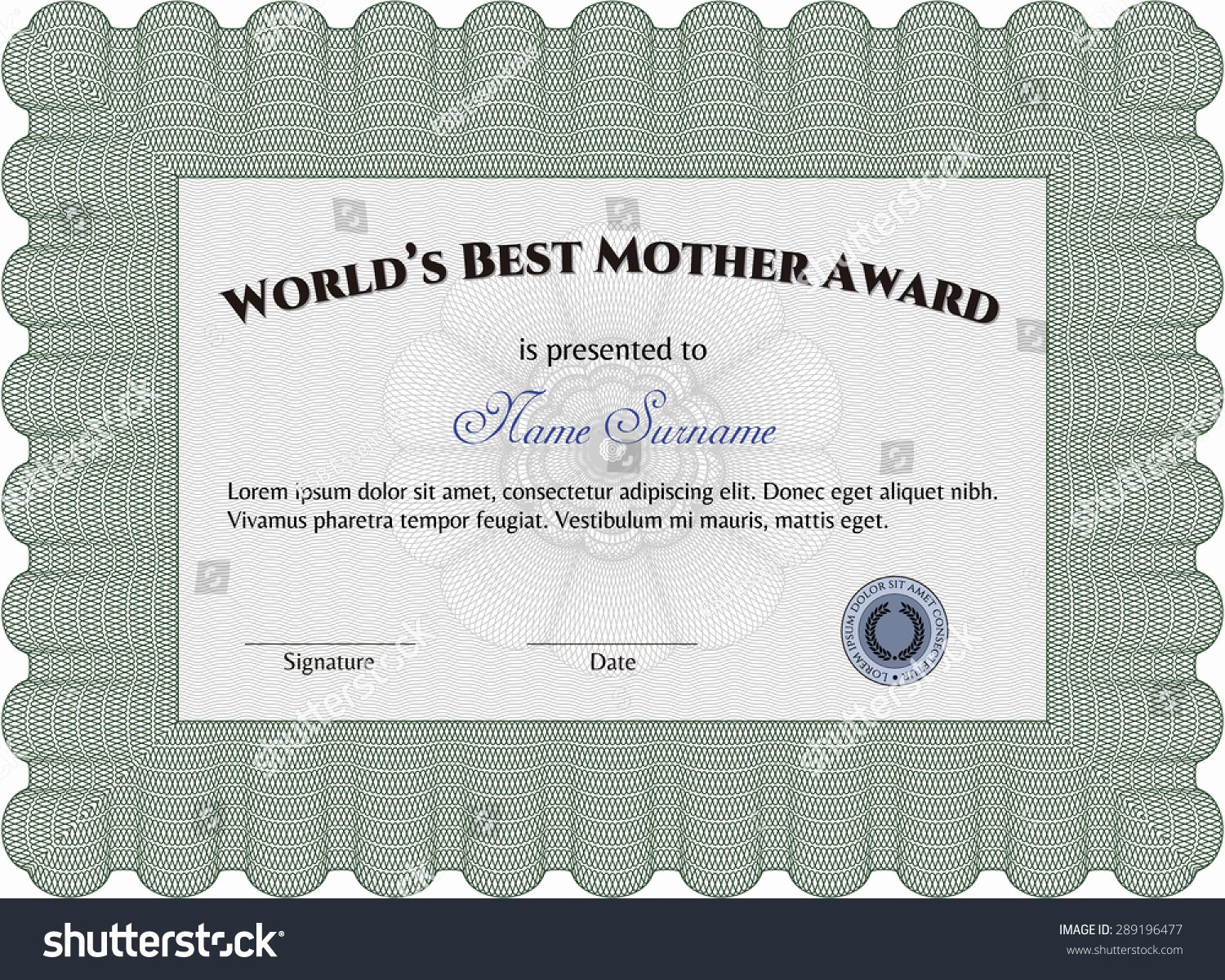 Best Mom Certificate Template Best Of World S Best Mom Award Template Border Frame Good Design