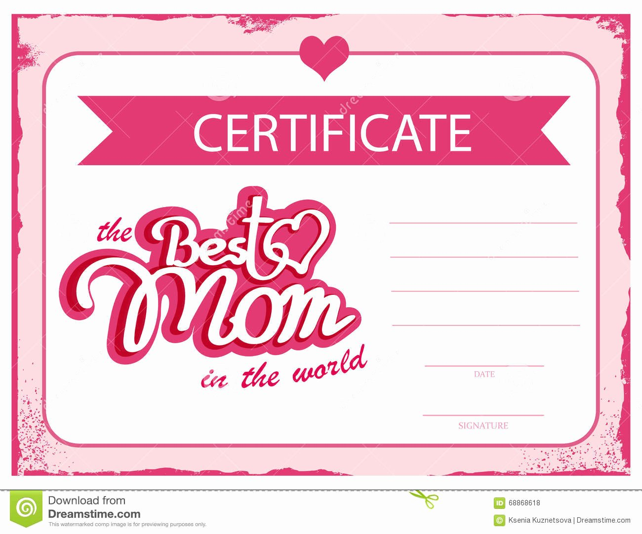 Best Mom Certificate Template Elegant Personalized Gift Certificates
