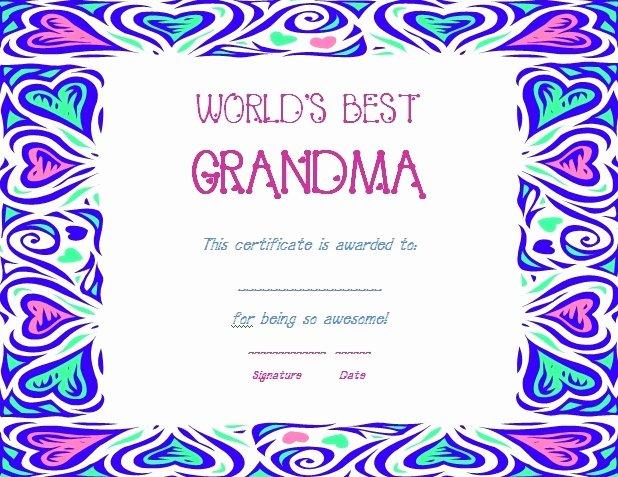 Best Mom Certificate Template Fresh August 2013