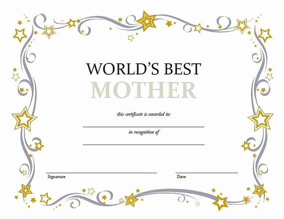 Best Mom Certificate Template Lovely Mothers Day Certificate Instant Download Scrapbook by