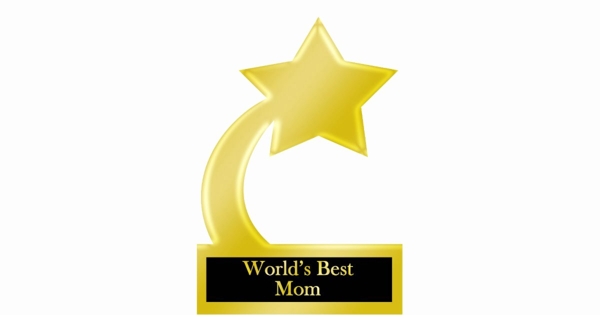 Best Mom Ever Trophy Elegant World S Best Mom Gold Star Award Trophy Statuette