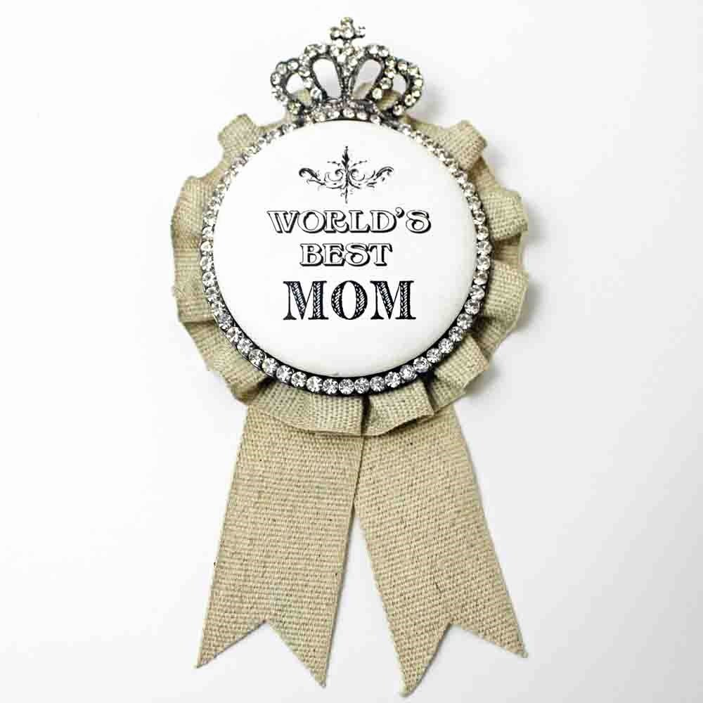 Best Mom Ever Trophy Luxury Vintage Crown Mother S Day Lapel Pin World S Best Mom