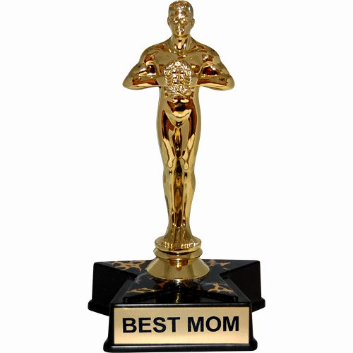 "Best Mom In the World Award Awesome Hollywood Award Trophy Statue Reads ""best Mom"""