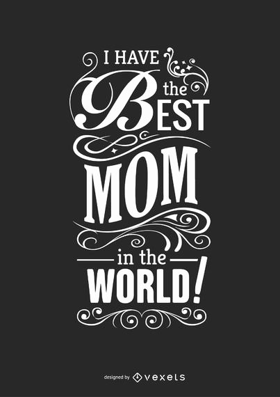 Best Mom In the World Award Beautiful Best Mom In the World Quote Vector