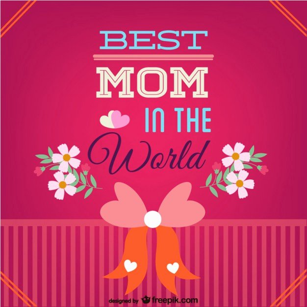 Best Mom In the World Award Beautiful Mother S Day Best Mom Card Vector