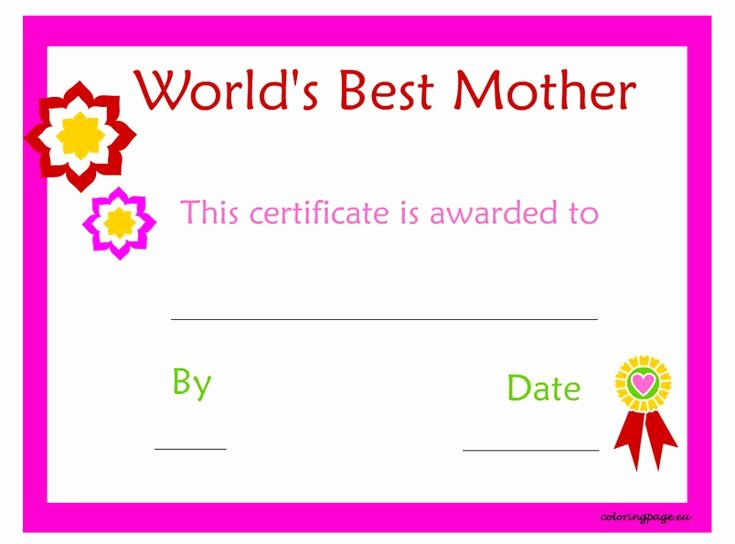Best Mother Award Certificate Elegant 15 Best Occupational Certificate Templates Images On