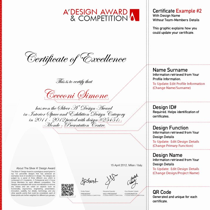 Best Paper for Certificates Beautiful A Design Award and Petition Winners Certificate
