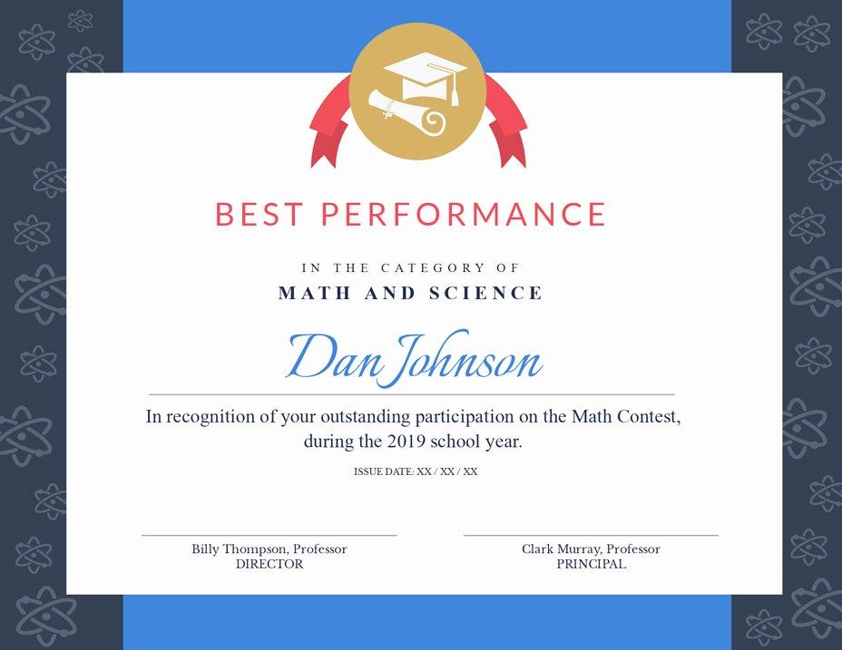Best Paper for Certificates Fresh Free Certificate Maker Certificate Generator