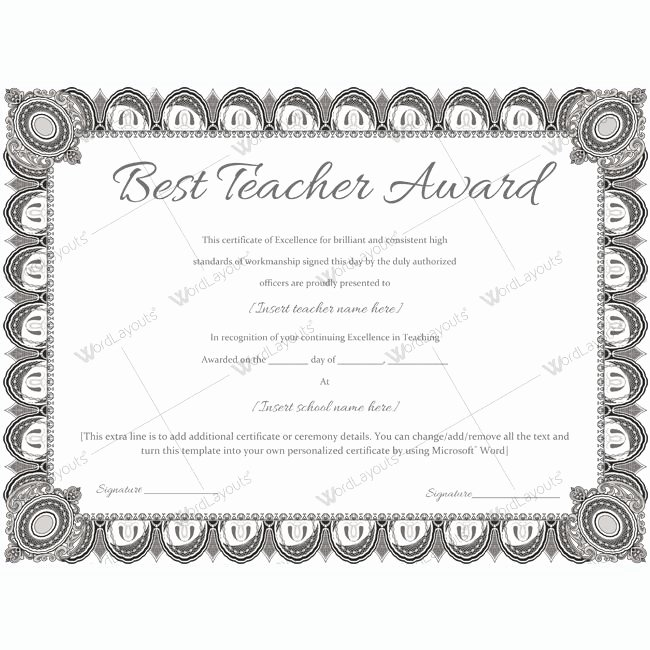 Best Teacher Award Certificate Awesome 1000 Images About Best Teacher Award Certificate