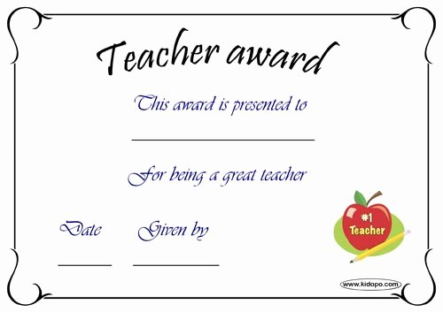 Best Teacher Award Certificate Awesome Best Teacher Certificate Coloring Pages