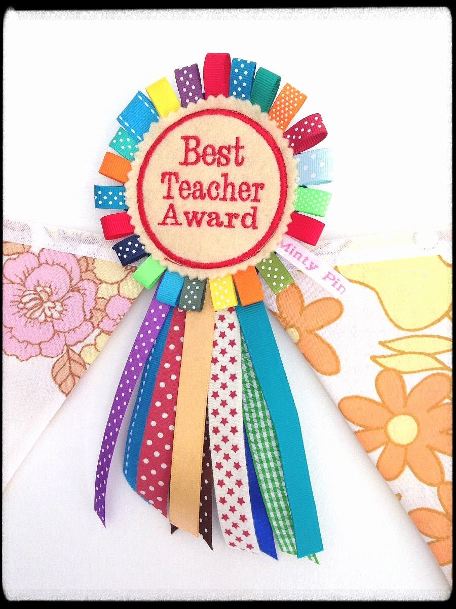 Best Teacher Award Certificate Fresh Best Teacher Award Badge Rosette