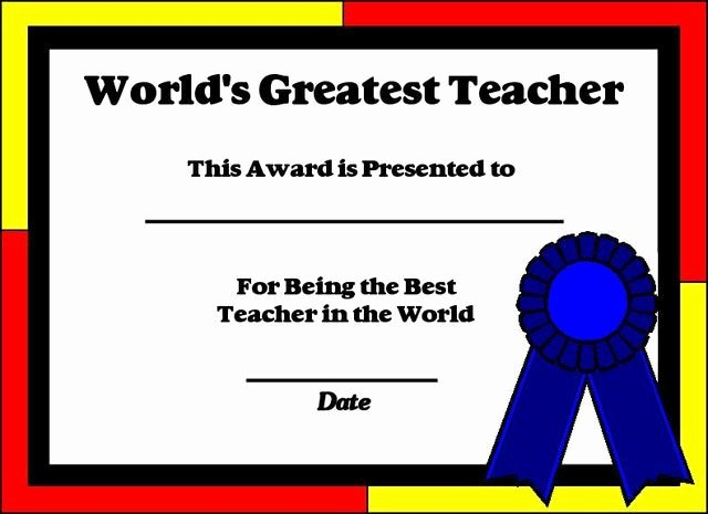 Best Teacher Award Certificate Inspirational Printable Certificates for Teachers
