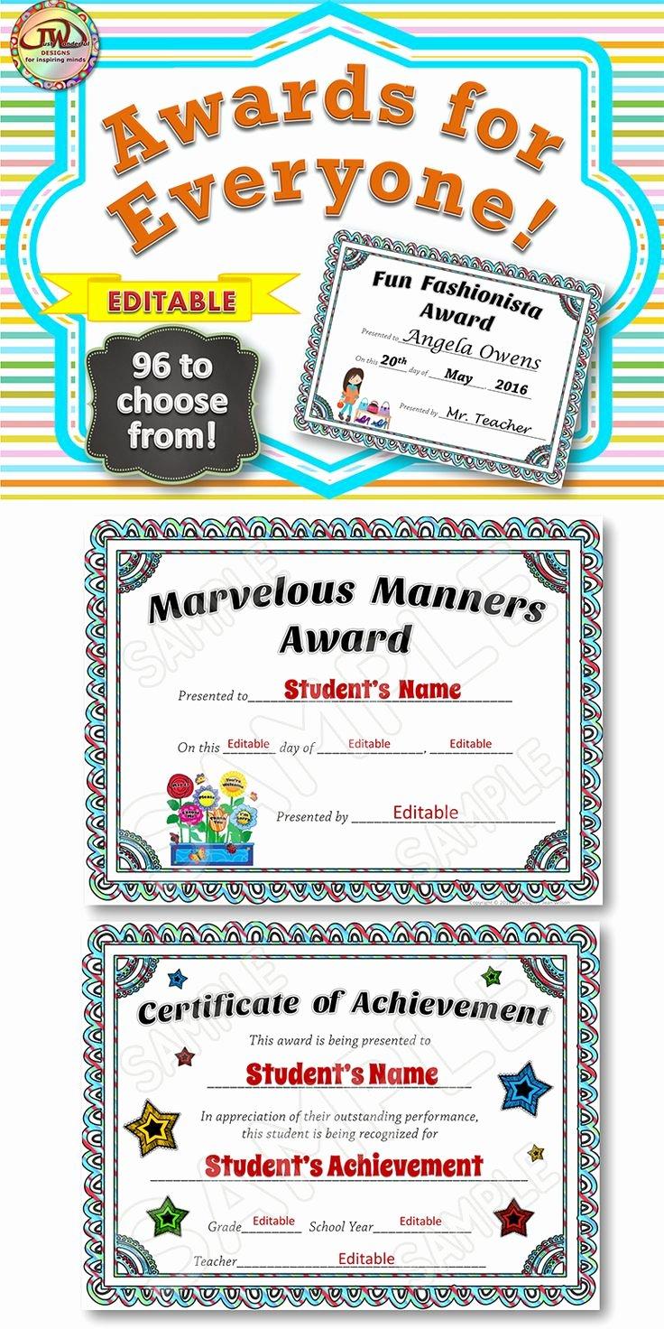 Best Teacher Award Printables Unique Best 25 Award Certificates Ideas On Pinterest
