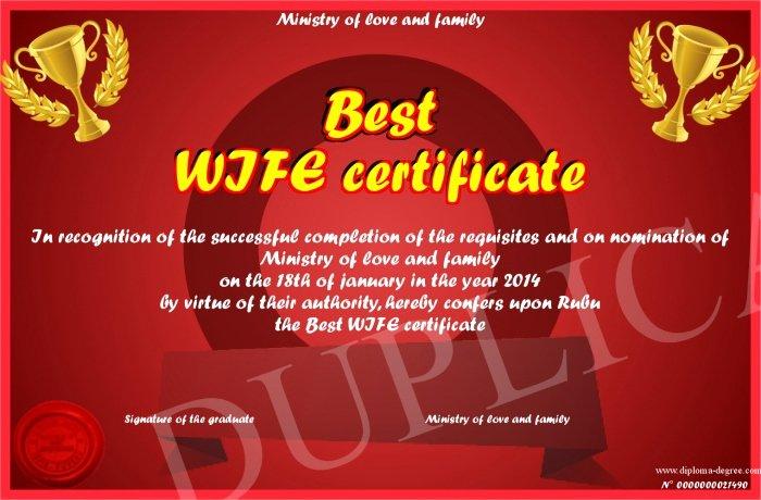 Best WIFE certificate