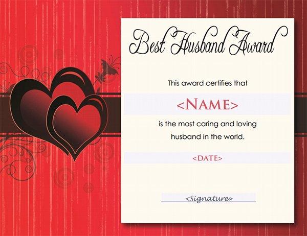 Best Wife Award Certificate Luxury Printable Award Certificate Templates
