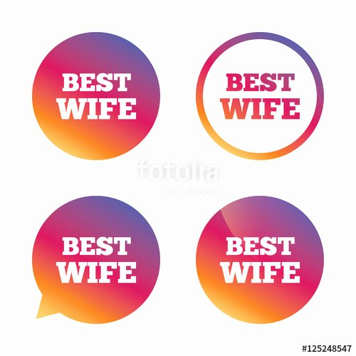 "Best Wife Ever Award Elegant ""best Wife Sign Icon Award Symbol "" Stock Image and"
