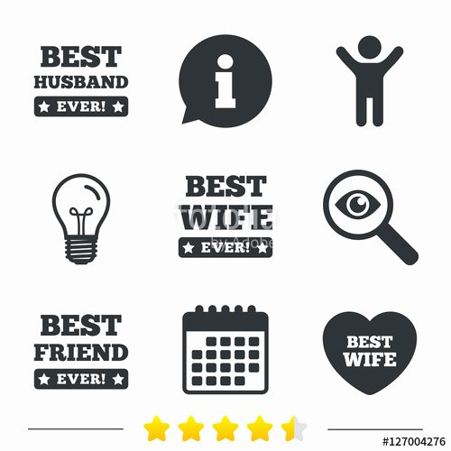 "Best Wife Ever Award Unique ""best Wife Husband and Friend Icons Heart Love Signs"