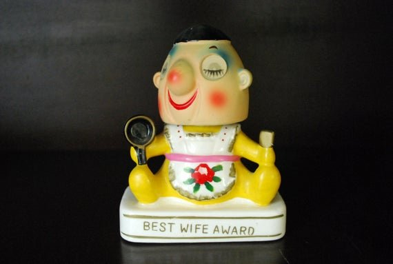 Best Wife Ever Trophy Awesome Items Similar to Retro Bobblehead Capri Creations Best