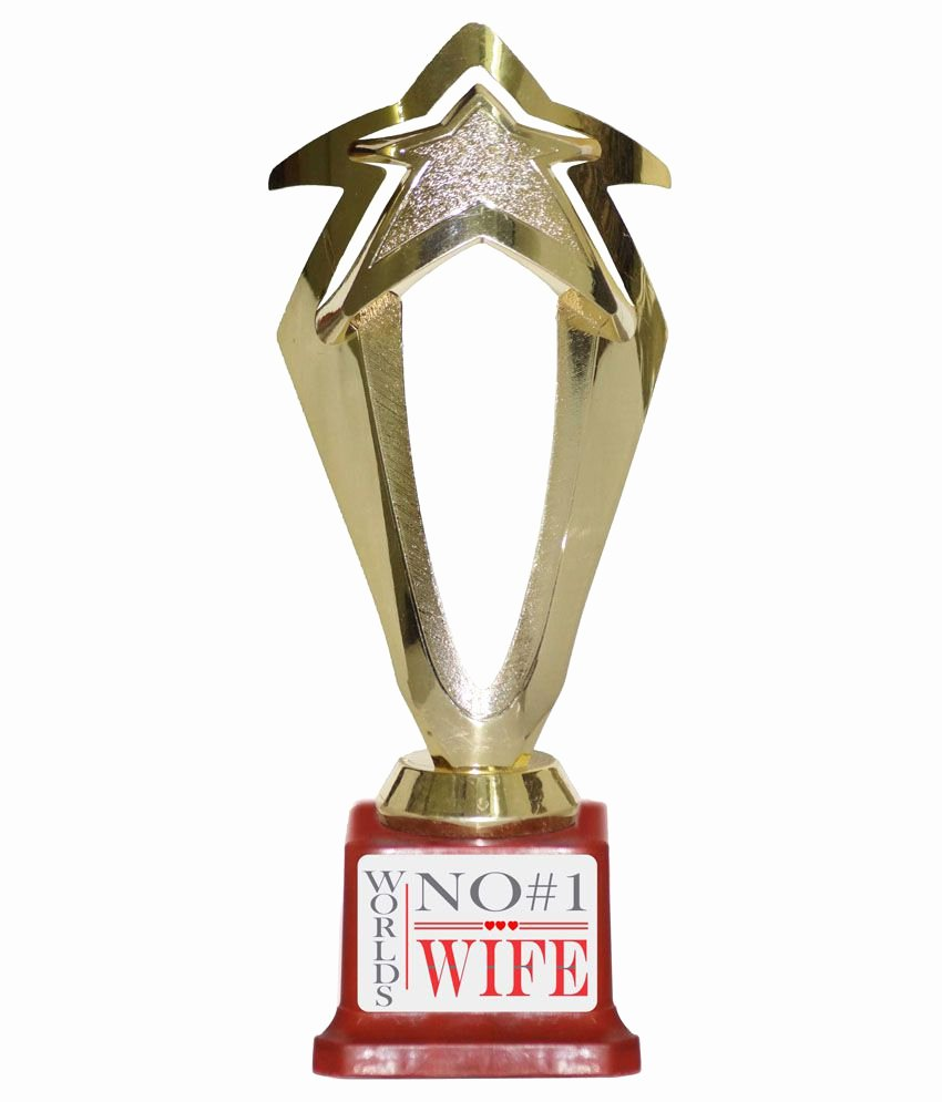 Best Wife Ever Trophy Best Of Trophydeal World S No 1 Wife Trophy Buy Line at Best