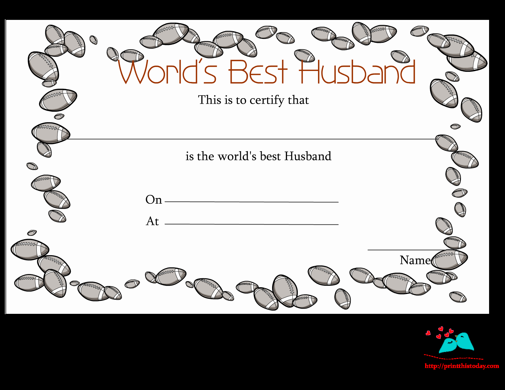 Best Wife In the World Award Awesome Free Printable World S Best Husband Certificates