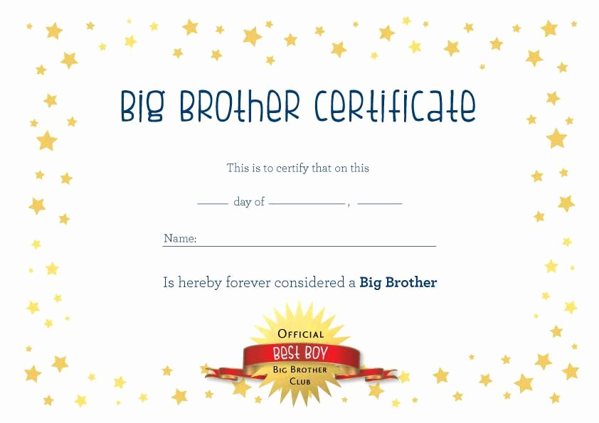 Big Sister Certificate Template Fresh Award Certificates Free Coloring Pages