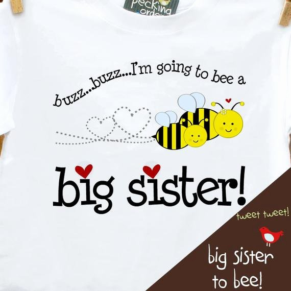 Big Sister Certificate Template Inspirational Big Sister Shirt Big Sister to Bee Pregnancy Announcement