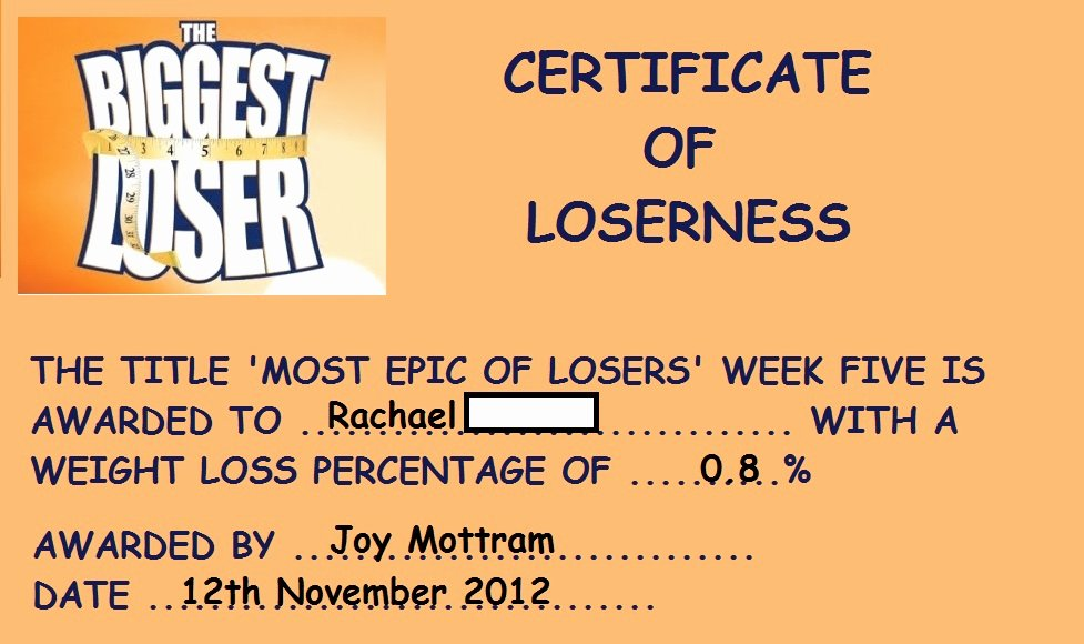 Biggest Loser Certificate Template Best Of Baby Belly Bulge Battles and Breastfeeding the Biggest