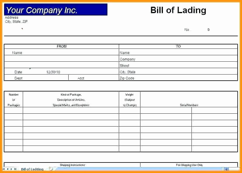 Bill Of Lading Short form Template Awesome Straight Bill Of Lading Short form Template – Short Bill