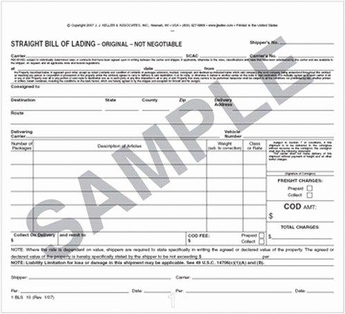 Bill Of Lading Short form Template Best Of Straight Bill Of Lading Exhibitedge
