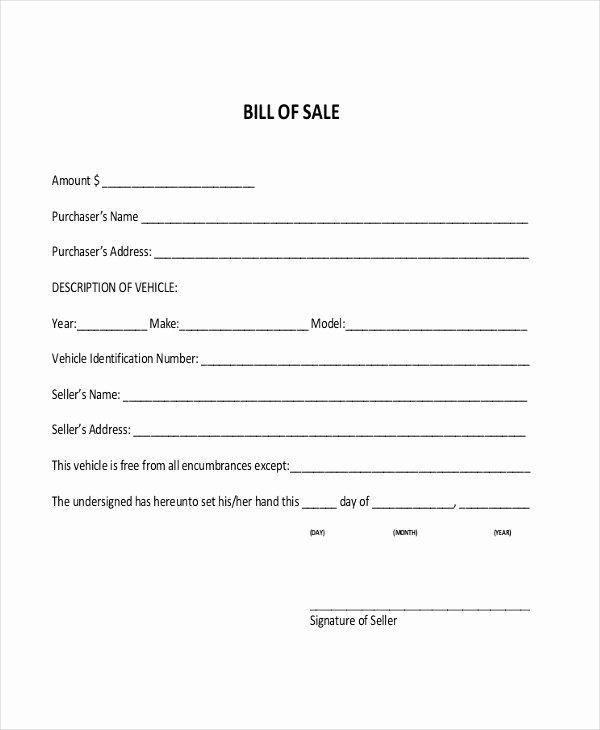 Bill Of Sale for Car In Alabama Luxury Free 8 Dmv Bill Of Sale form Samples