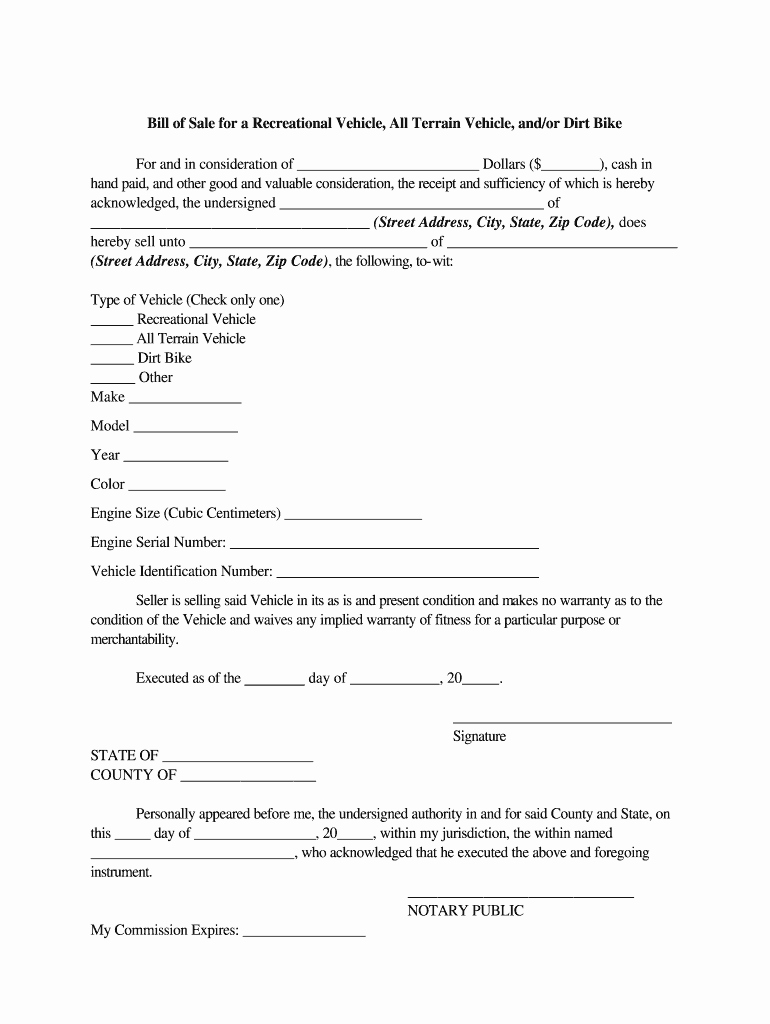 Bill Of Sale Motorcycle Pdf New Generic Motorcycle Bill Sale Fill Line Printable