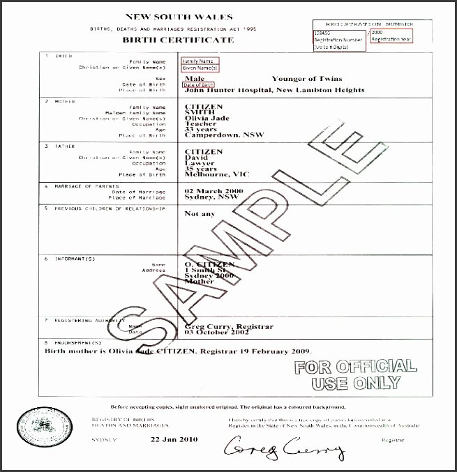 Birth Certificate Template for Microsoft Word Awesome 10 Editable Birth Certificate Template Sampletemplatess