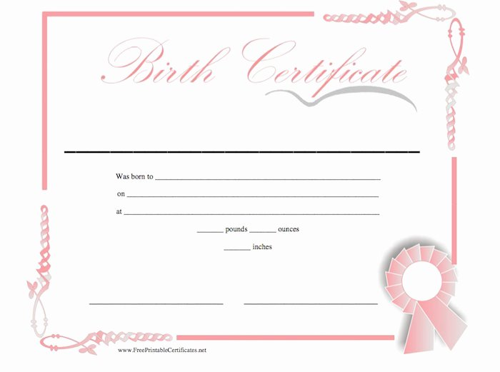 Birth Certificate Template for Microsoft Word New 15 Birth Certificate Templates Word & Pdf Template Lab