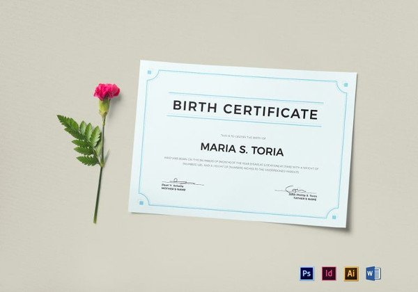 Birth Certificate Template Google Docs Inspirational Certificate Template 50 Printable Word Excel Pdf Psd