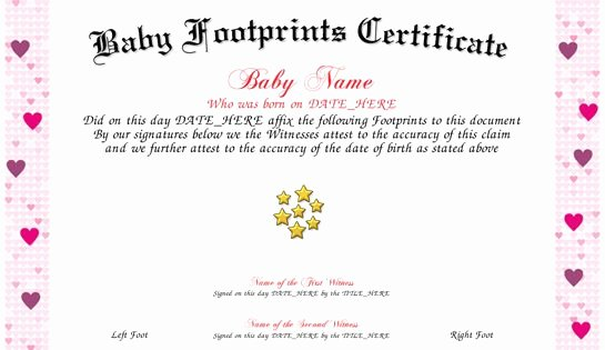 Birth Certificate Template with Footprints Inspirational Footprints Use Our Free Template Maker to Create Your