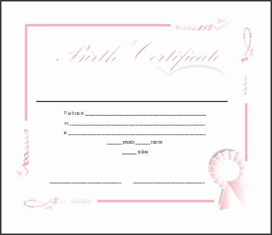 Birth Certificate Templates Free Printable Awesome 7 Ms Word Birth Certificate Template Sampletemplatess