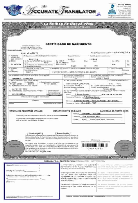 Birth Certificate Translation From Spanish to English Template Awesome Birth Certificate Translation Of Public Legal Documents