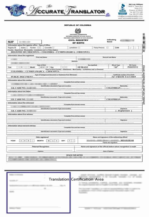 Birth Certificate Translation From Spanish to English Template Beautiful Birth Certificate Translation Of Public Legal Documents