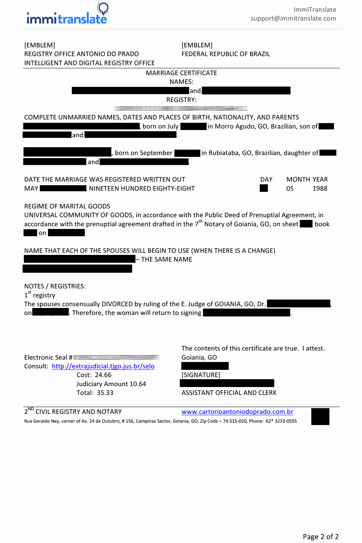 Birth Certificate Translation From Spanish to English Template Elegant Marriage Certificate Translations