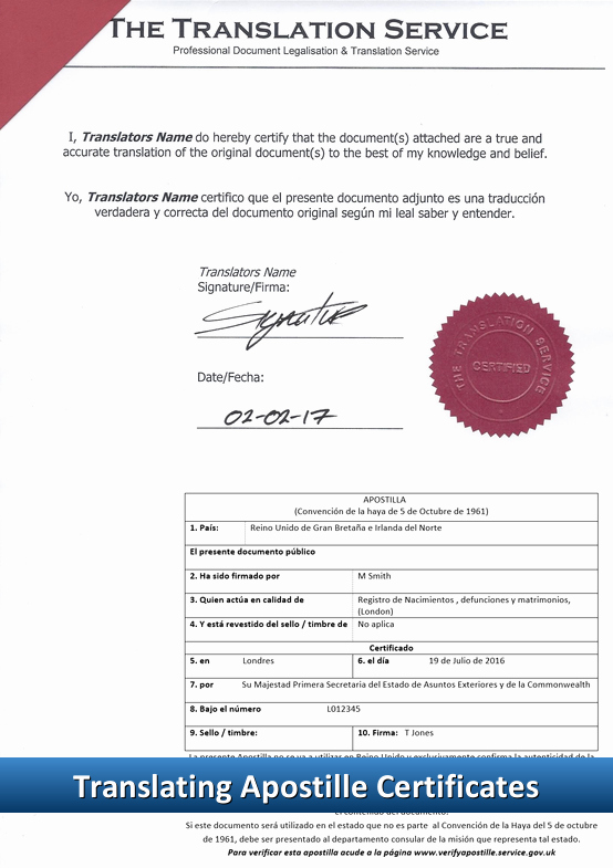 Birth Certificate Translation From Spanish to English Template Lovely Apostille Translation