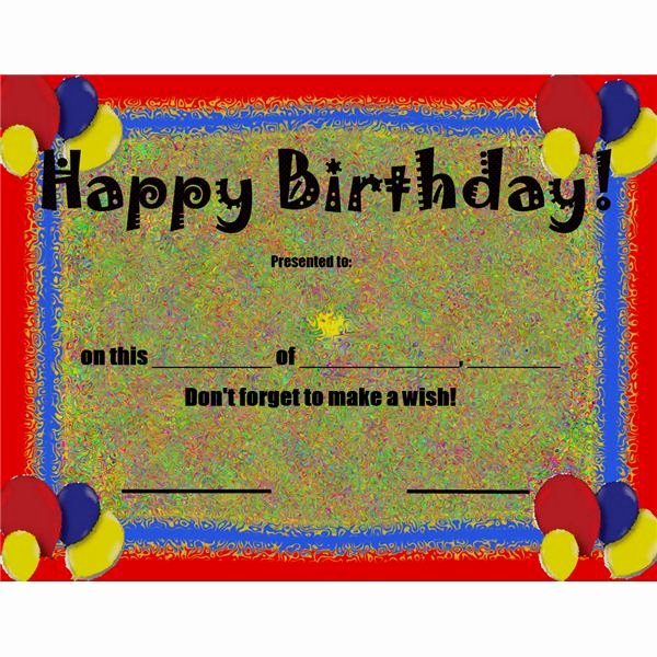 Birthday Certificate for Kids Awesome 10 Free Printable Awards Certificates for Children to
