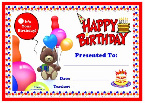 Birthday Certificate for Kids Awesome Awards for All Subjects Awards and Certificates that All