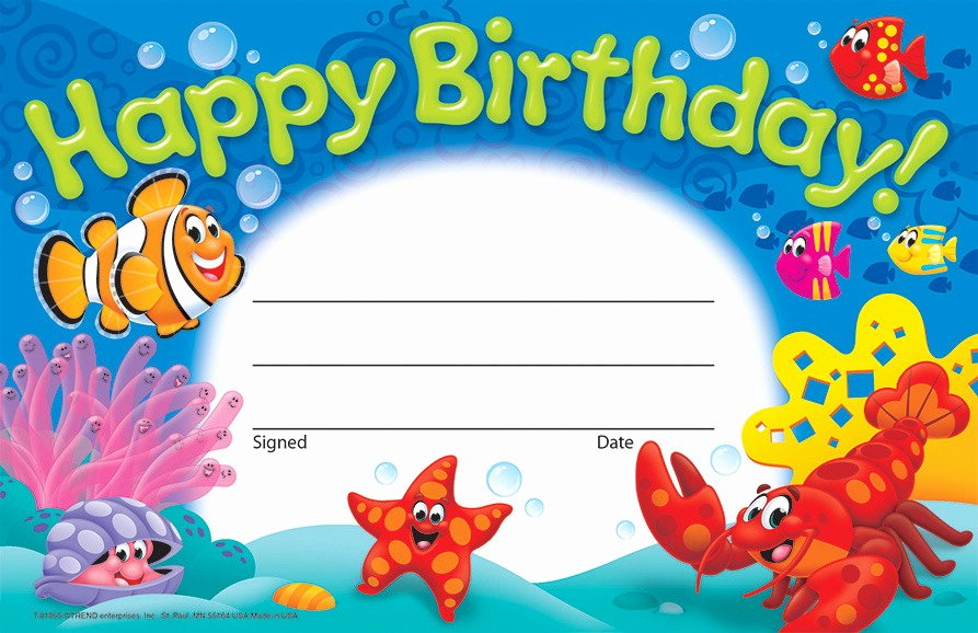 Birthday Certificate for Kids Awesome Trend Enterprises Recognition Awards School Specialty
