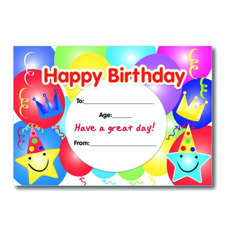Birthday Certificate for Kids Lovely Buy A5 Birthday Certificates 40pk
